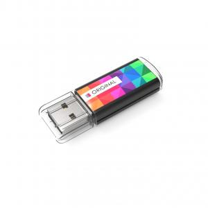 USB Stick Original 4 GB Basic Noir avec doming quadri