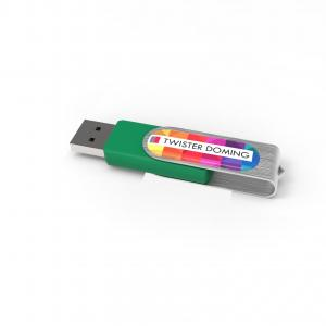 USB Stick Twister Doming 2 GB Basic Vert avec doming quadri